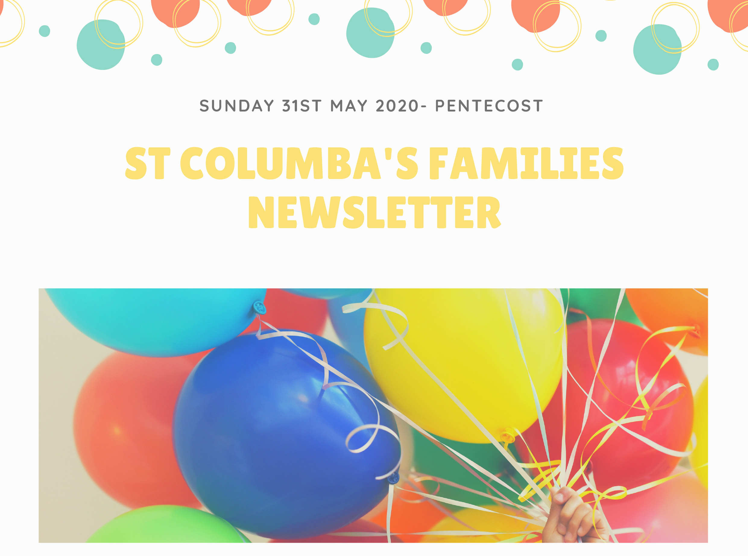 St Columbas Familes Newsletter 31st May 2020